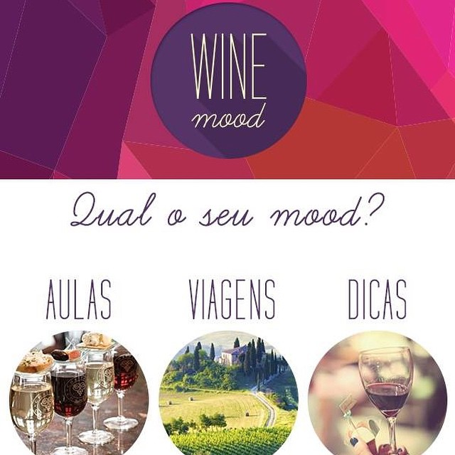 Fechamos uma parceria super bacana com a Wine Mood! ? Para quem adora vinho e viagem, a Wine mood é a combinação perfeita para essa experiência.  Imagina conhecer as mais belas vinícolas do mundo, degustando bons vinhos e pratos em cenários deslumbrantes?  A Wine mood leva você! Prepare-se para uma experiência lúdica e deliciosa.  Para saber sobre aulas, viagens e dicas de vinhos, acesse o site e se cadastre. Rápido e fácil! @wine_mood  www.winemood.com.br